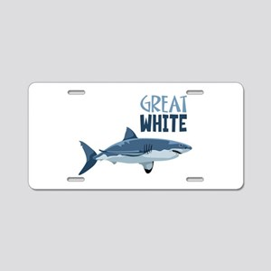 Great White Aluminum License Plate